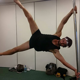 Arion performing Iron X at Pole Passion Bognor - Bersted Park