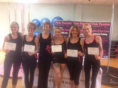 Kelly Wickham, Amy White, Sue Thompson (Instructor), Kara Hedley, Donna Masters and Kim Baker-Manchester - all passing at a recent grading.