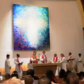 Worship at the Church of the Epiphany Doha