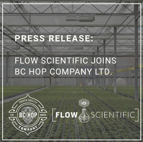 Flow Scientific Joins BC Hop Company Ltd.