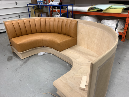 Fabrication - Banquettes for MBDS