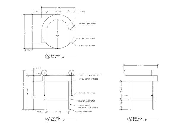 Furniture Drawings Briar Gill-Bar Stool.