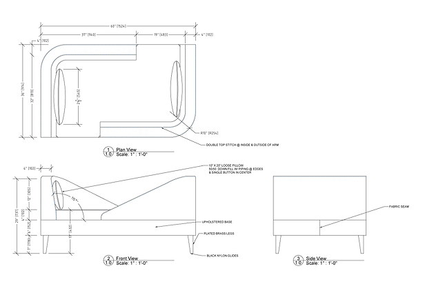 Furniture Drawings Briar Gill-Chaise For