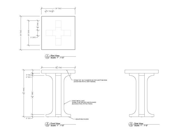 Furniture Drawings Briar Gill-Bar Table.