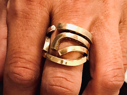 ONE OF A KIND SILVER & BRASS RING