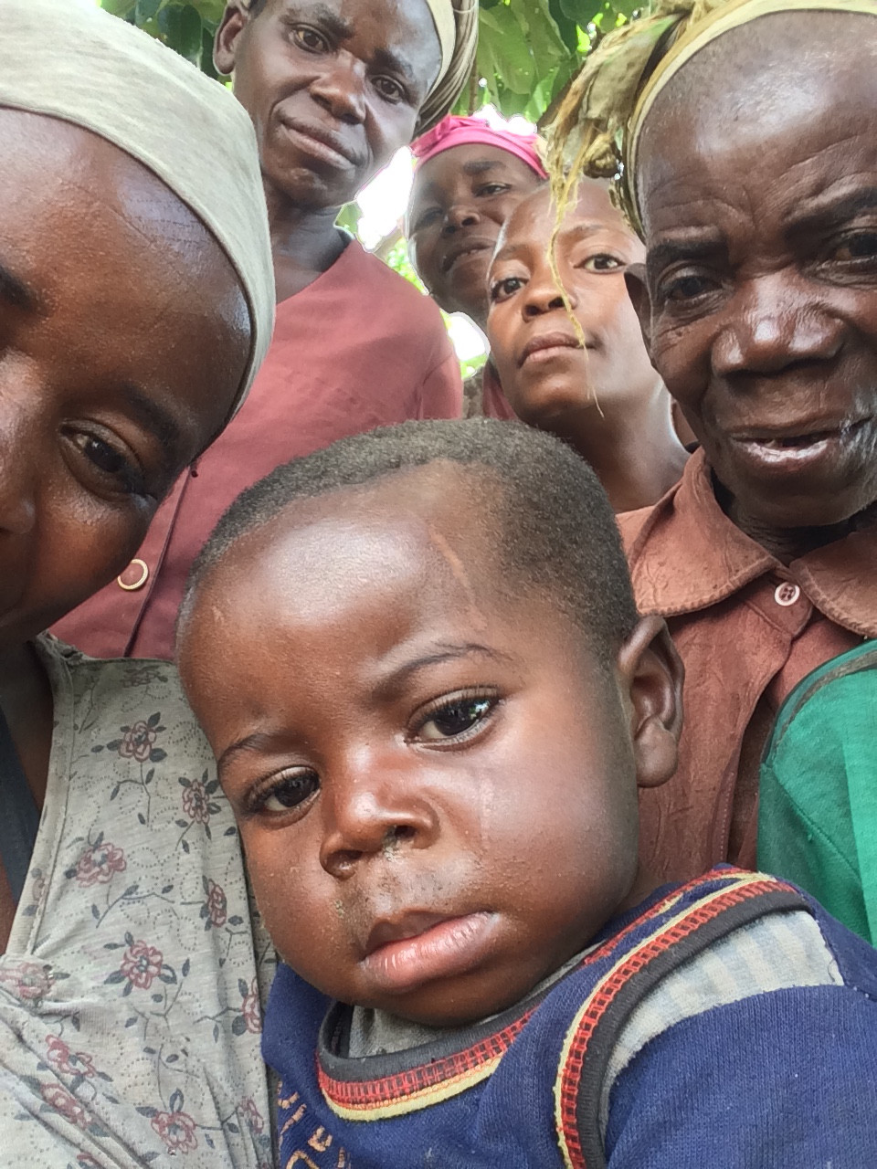 The Pygmies seeing a camera for the first time