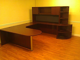 New office furniture.  U shape desk unit option 2