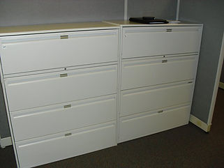used lateral files, used vertical files, used bookcases,