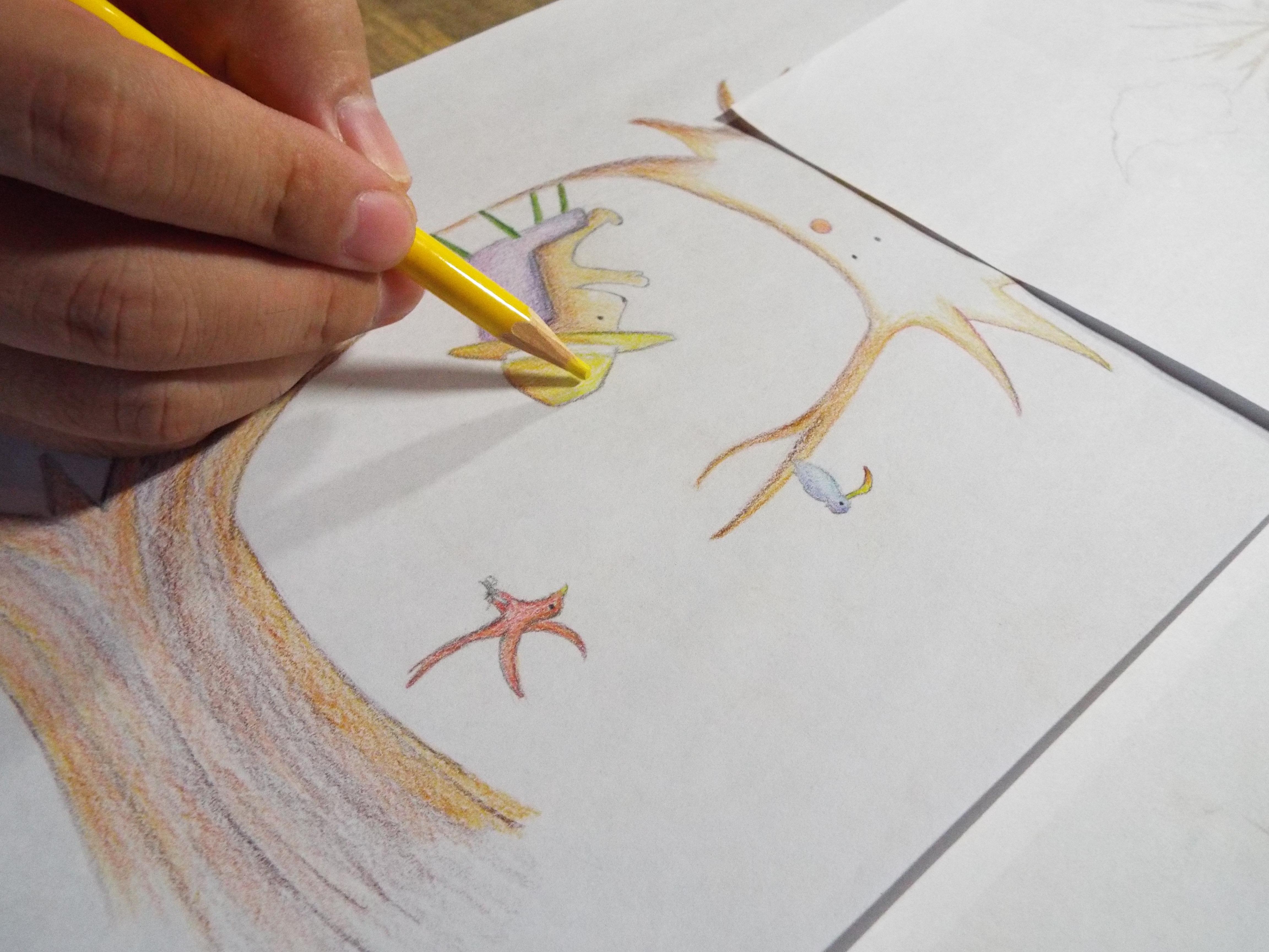色鉛筆イラスト例1