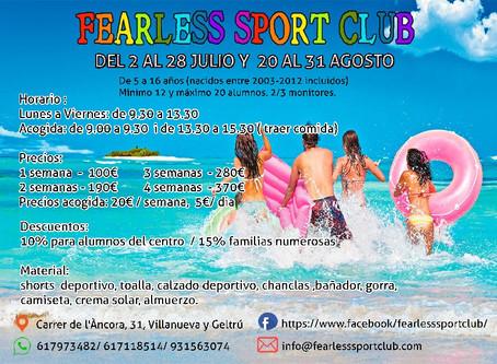 Casal d'estiu Vilanova i la geltru, club esportiu Fearless