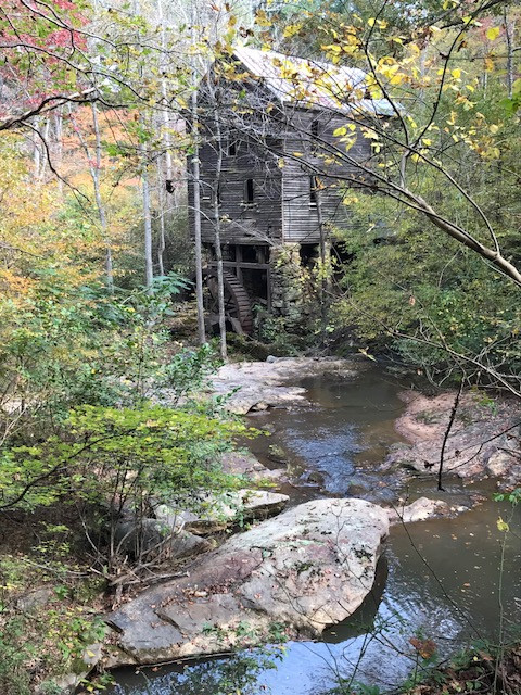 Wilkerson Mill on Little Bear Creek in Chattahoochee Hills, Ga. on an October morning.
