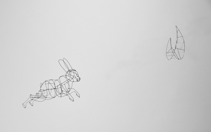 Moon and rabbit / a mobile