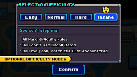 Coromon Optional Difficulty Modes