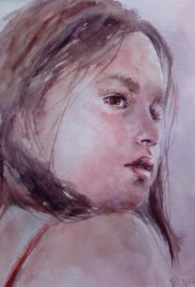 Jeune fille à la bretelle rouge