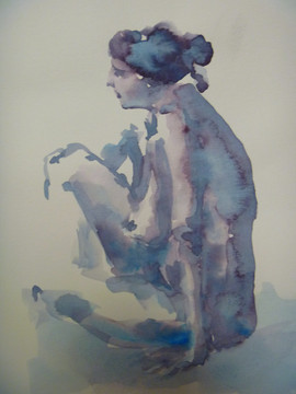 aquarelle, 20x20