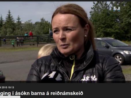 Sprenging í ásókn barna á reiðnámskeið