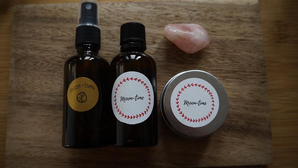 Moontime Set spray/oil/mini candle