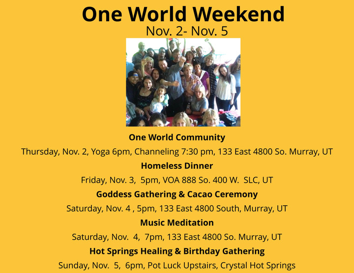 One World Weekend 11/17