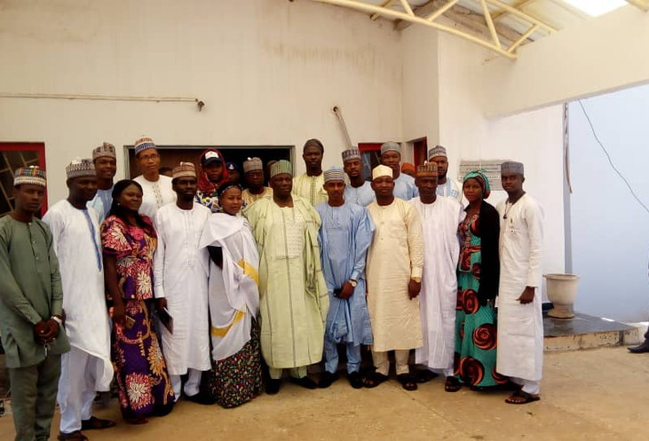 The Speaker & a delegation with Deputy Governor of Gombe State