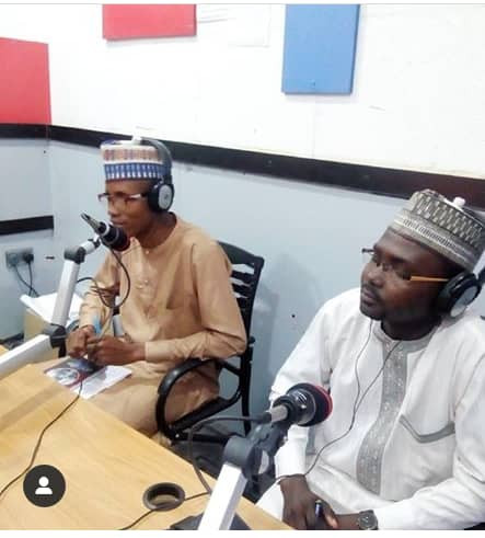 Hon Imrana Garba of Bauchi State participating during a radio program aimed at preventing drug abuse