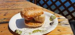 Hamburger de pétoncle/bacon