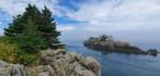Point de vue sur le phare Head Harbour