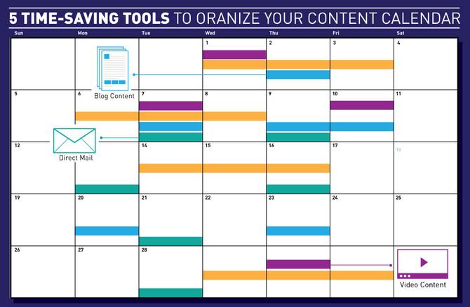 5 Time-Saving Tools to Organize Your Content Calendar
