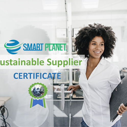 Sustainable Supplier Certificate