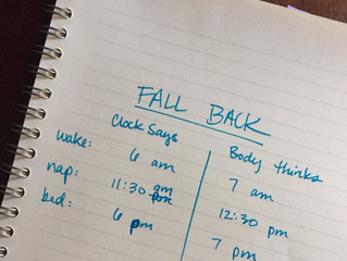 "Ahhhhhh! Clocks ""Fall Back"" Nov. 1st!"