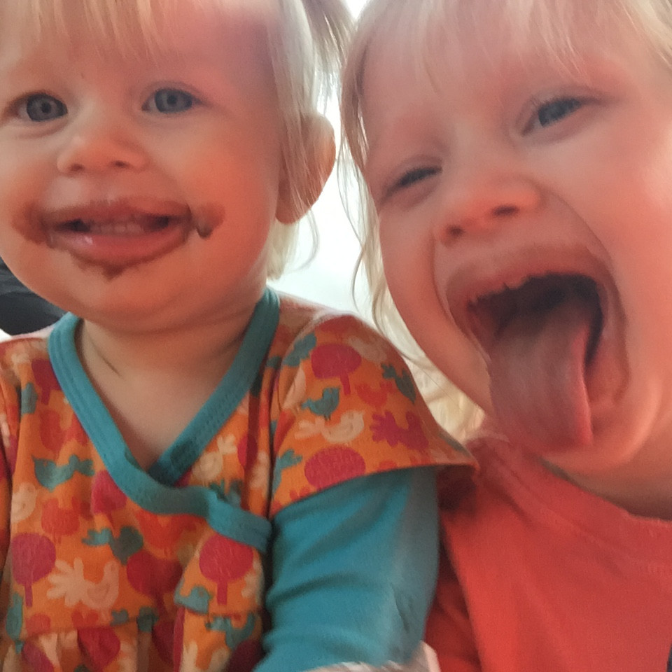 My own happy mess-makers enjoying a rare ice-cream treat!
