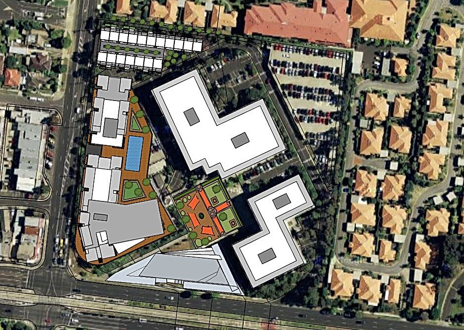 Masterplan of Greenwood Business Park in Burwood Designed by Architeria Architects in Melbourne