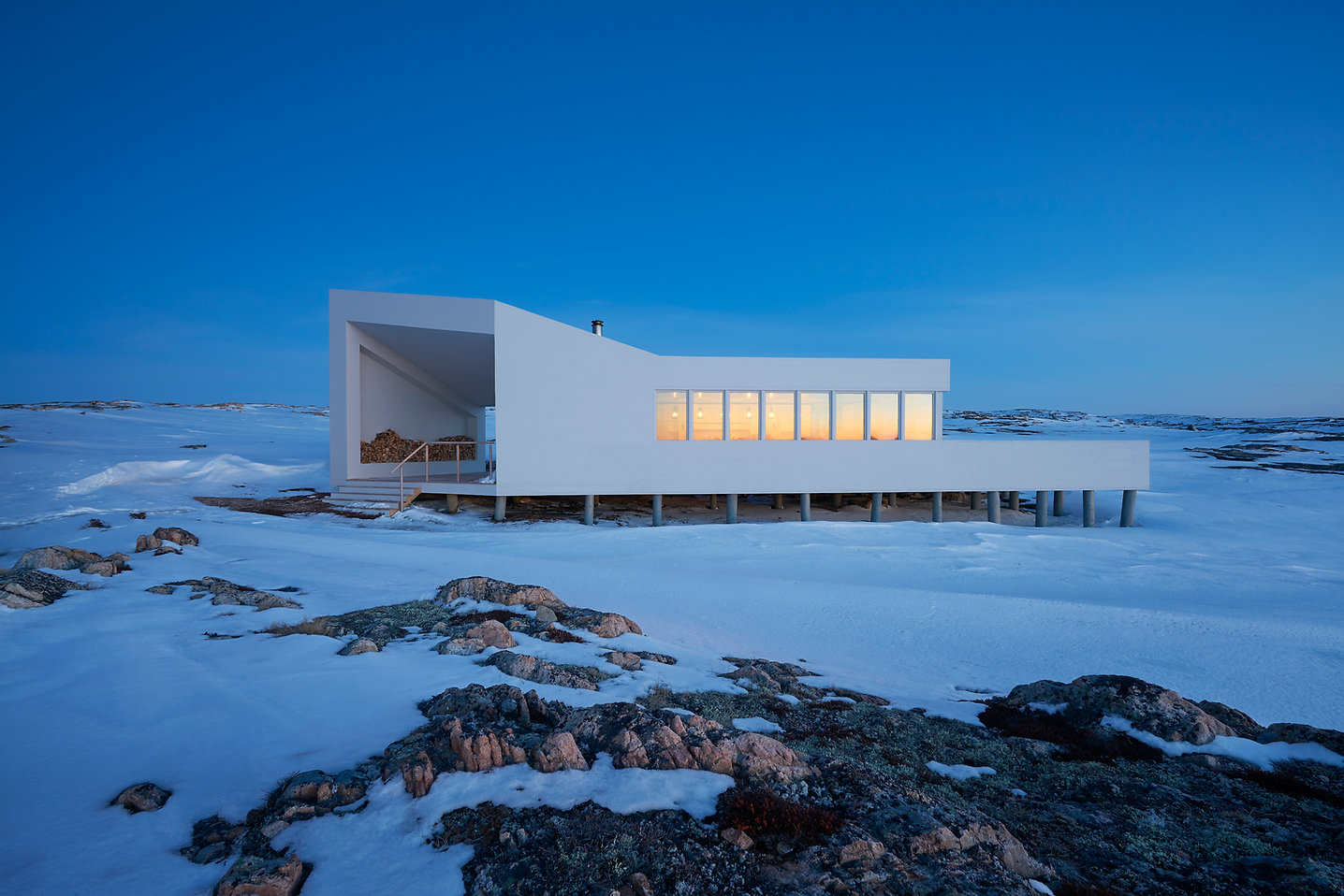 GRAY Awards winner Sustainable design off the grid Fogo Island Shed modern architecture