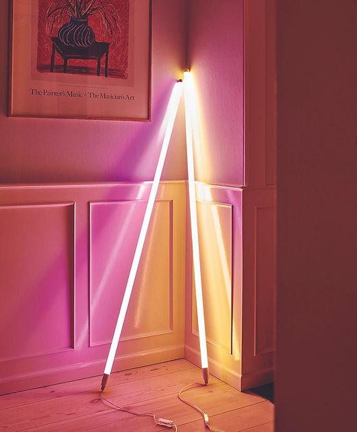 neon tube light interior design