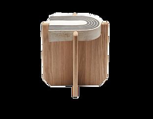White oak side table furniture design