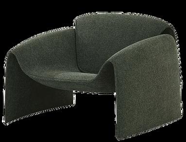 gray club chair modern design