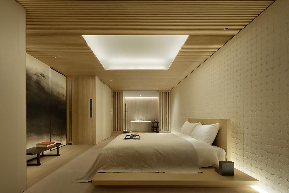 Platform bed tokyo Interior design bedroom
