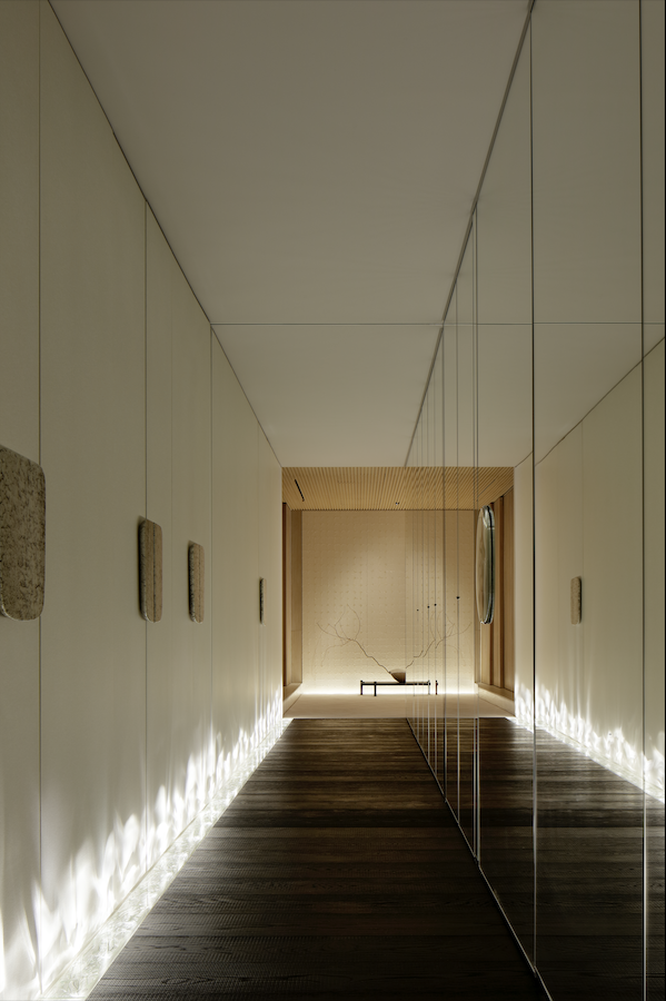 Tokyo interior design mirrored hall