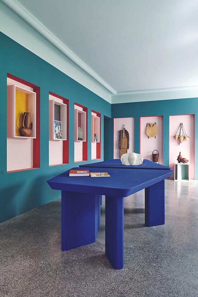 Colorful boutique interior design Paris, France