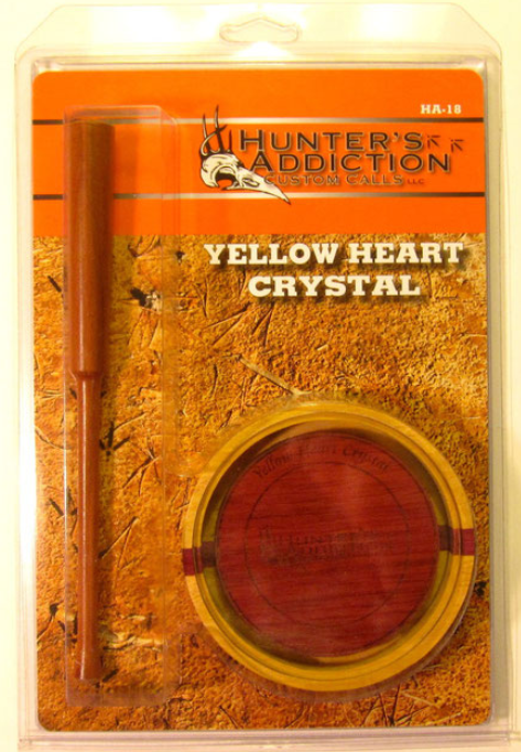 Yellow Heart Crystal Custom Friction Tur
