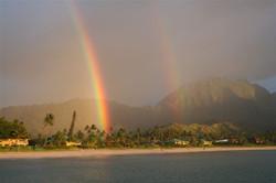 Hanalei Bay Double Rainbow