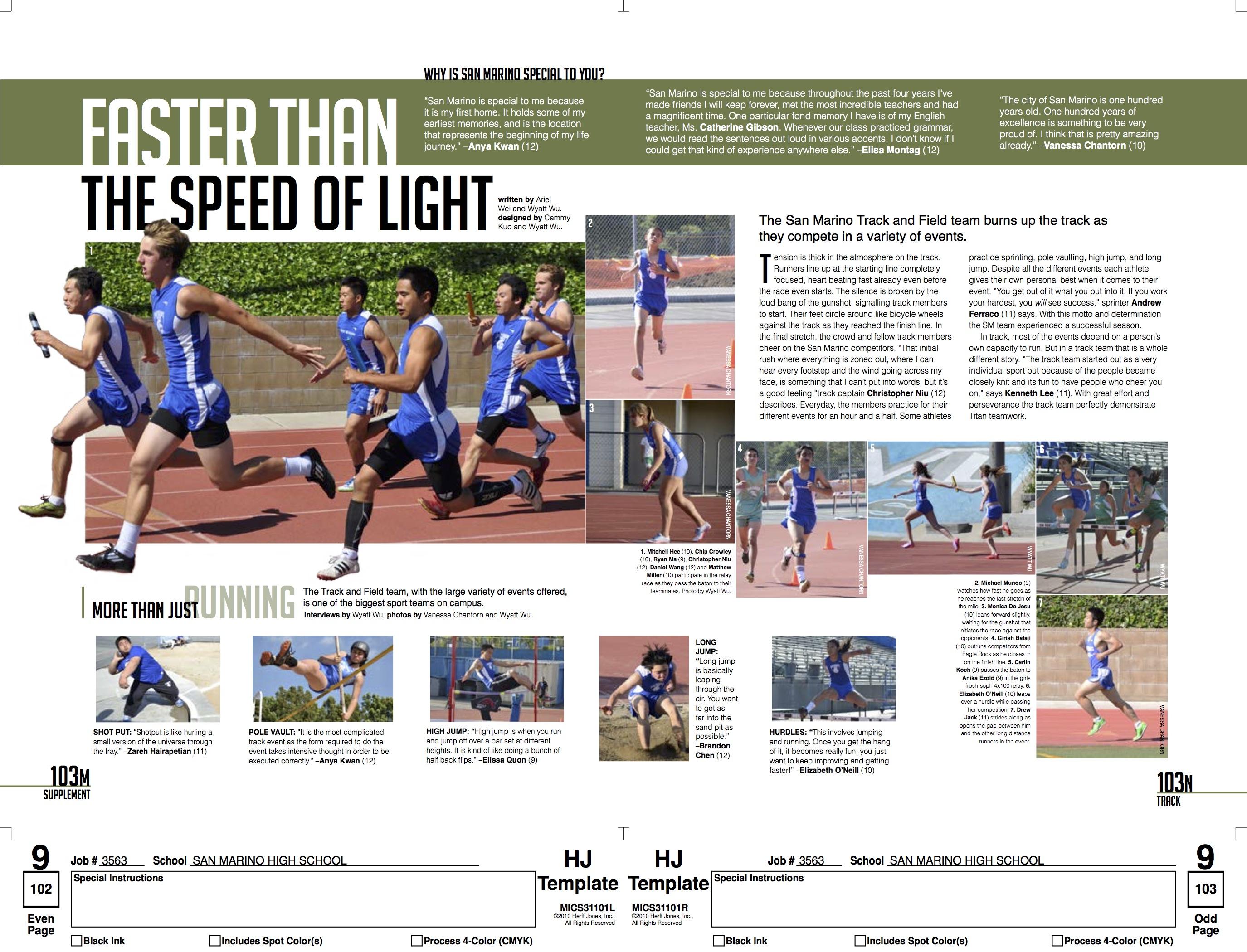 San Marino High School Track Spread