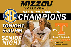 Mizzou v. Tennessee Volleyball Flyer
