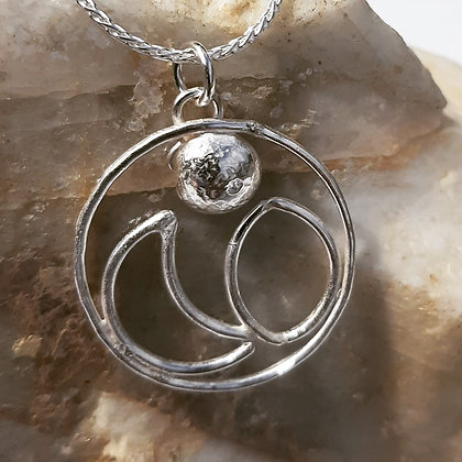 Sterling Moon Phase Pendant