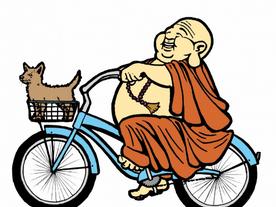 Buddha on a bicycle