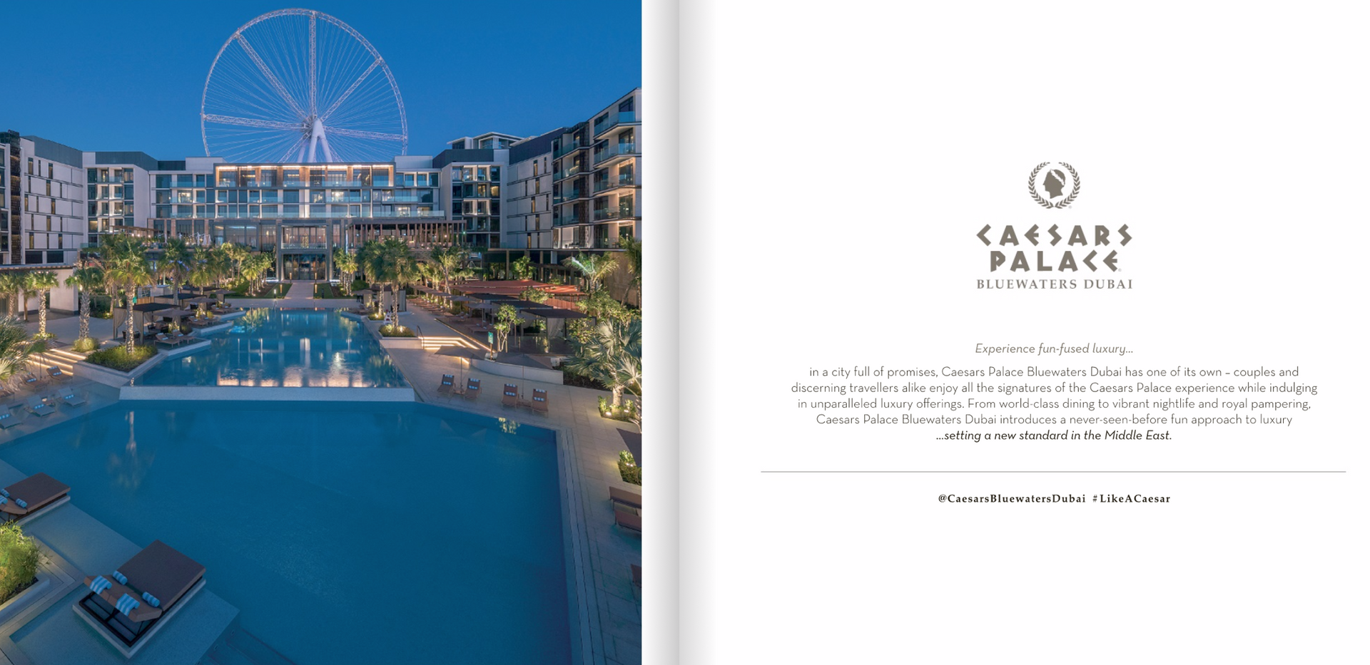 Caesars Bluewaters Dubai e-Book