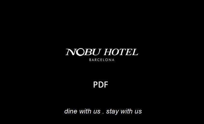 NOBU Barcelona PDF