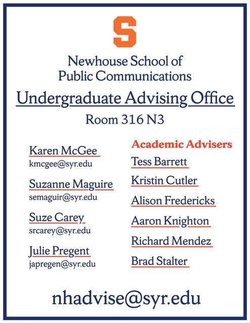 Undergraduate Advising Office Door Poster