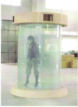 智能調光玻璃啟動後
