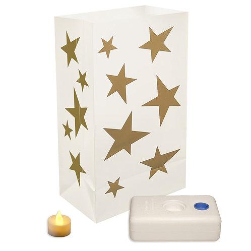 Battery LED Luminaria Kit - Stars 12ct