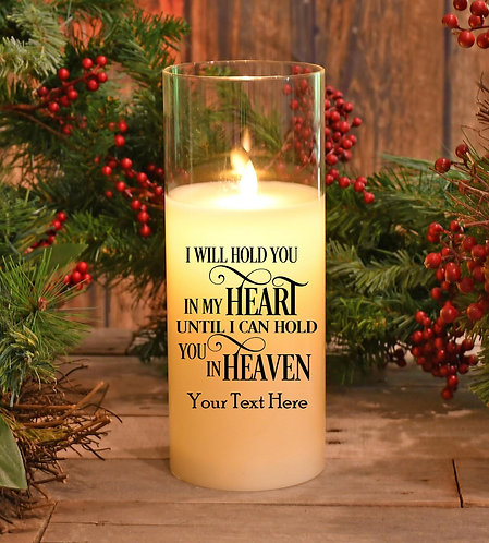 Memorial Candle - Hold You In My Heart